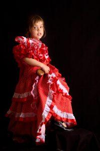 Spanish girl with flamenco costume.Similar: