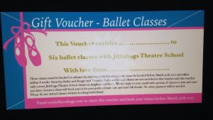 ballet classes gift voucher
